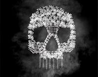 Word Cloud Skull - The Dark side of the moon