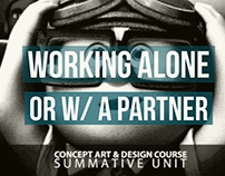 Summative Unit Individual or Pair - Concept Art Course