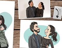 Custom digital illustrations