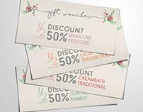 Beauty Salon Gift Vouchers