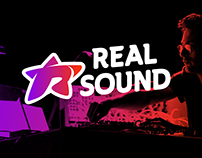 """The logo of """"Real sound"""""""