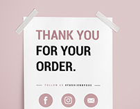 A5 flyer |  Thank you for you order