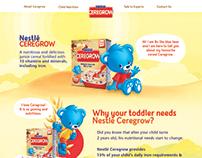 Nestlé Ceregrow Website Design
