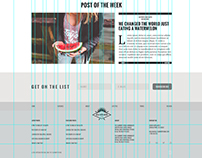 The Summer Blog PSD Template FREE