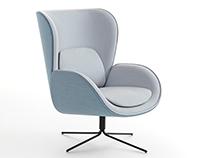 NORMAN armchair for Carmenes