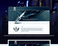 Auto parts web site design