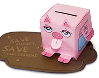 Antalis - Piggy Bank Direct Mailer