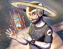 SATURN   planetary character illustration series