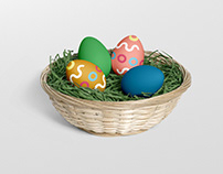 Easter Egg Mockup Basket Edition