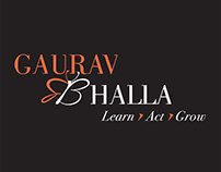 Gaurav Bhalla logo and icons
