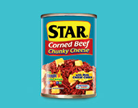 STAR Chunky Cheese Label Design