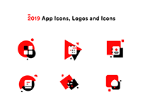 2019 App icons, logos and icons collection