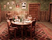 Old cabin interior