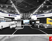 Exhibition stand for SCANIA