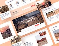 Travel agency website - UX/UI design