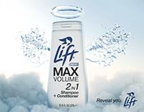 Lift Shampoo brand and advertisement