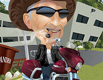Retirement Caricature