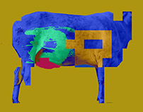 Geometric Cow. Psychedelic against conceptualism.