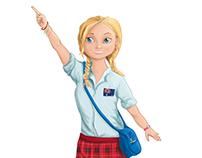 Australian girl - Tara. School theme. Character.
