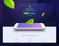 One Page Mobile Application Landing - Freebie Sketch
