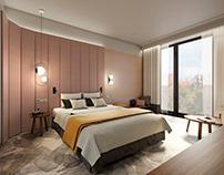 Hotel room _ concept design _ Sopot, Poland _ 2019