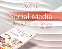 Avene Cosmetics Social Media Designs
