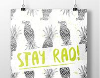 Stay rad! - Poster design