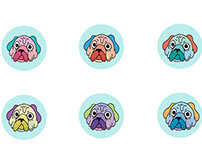 Fat Dog Button Sheet