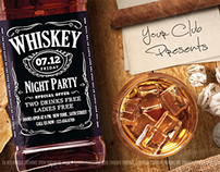 Whiskey Flyer Template
