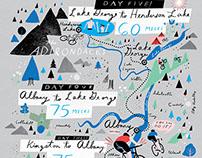 Biking the Hudson Map