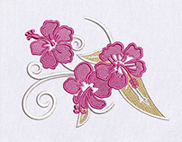 SPECTACULAR CHERRY BLOSSOM FLOWERS EMBROIDERY DESIGN