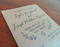 Tayler + Joey // Wedding Program Design