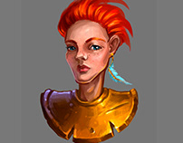 A Redhead Woman