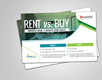 RENT AND BUY POSTCARD DESIGN