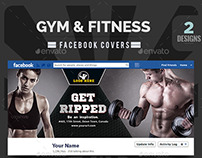 Gym & Fitness Facebook Covers - 2 Designs