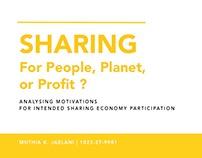 Presentation : Sharing economy