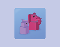 Rainbow Animals Icon