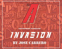 "Font ""invasion"" Created for the art institutes Adobe CC"