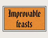 Improvable Feasts Editorial Design
