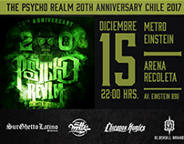 Flyer Psycho Realm Chile 2017