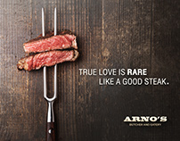ARNO'S Butcher Eatery Ad (Mock up)