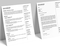 Gastown - FREE Resume template + Cover Letter