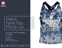 Mens Tank Top Mock-up