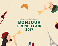 Key visual design for Bonjour french fair 2017