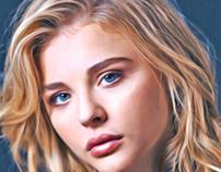 Digital Painting: Chloë Grace Moretz pt2