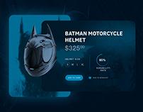 Batman motocycle helmet product page concept