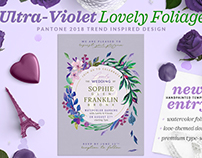 Ultra-Violet Lovely Foliage Invite I