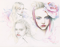 Gemma Ward (Beauty Illustration)