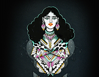 Goddesses updated - illustrations and wearable object