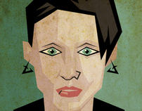 """The Girl With the Dragon Tattoo"" Illustrations"